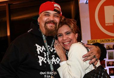 Astrid Fontenelle e João Gordo se encontram na despedida da MTV - Foto Rio News/Cláudio Augusto