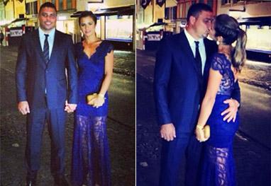 Opa! Ronaldo apalpa o bumbum da namorada no meio da rua - Reprodução