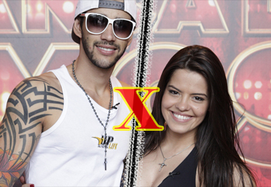 Gusttavo Lima e bailarina do Faustão batem boca na rede social - Domingão do Faustão / TV Globo