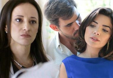 Amor à Vida: Rebeca flagra Aline e Ninho aos beijos na casa de César - Amor à Vida/TV Globo