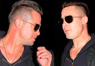 Brad Pitt radicaliza e adota cabelo moicano - Grosby Group