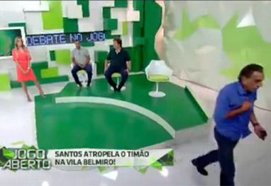 Comentarista se irrita com Renata Fan e deixa programa ao vivo - Reprodução