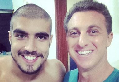 Caio Castro fica careca no Caldeirão do Huck - Caldeirão do Huck/TV Globo