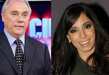 Brincadeira de Marcelo Rezende com Anitta é um dos assuntos mais comentados no Twitter - Reprodução Record/Getty Images