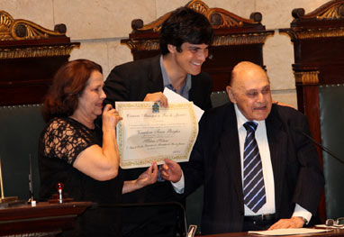 Mateus Solano recebe título de cidadão carioca - Claudio Andrade/Foto Rio News