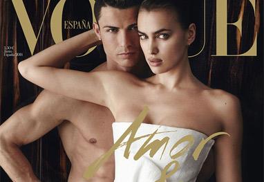 Cristiano Ronaldo aparece nu na Vogue Espanhola com Irina Shayk - Reprodução