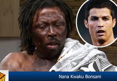 Feiticeiro africano diz ter feito macumba para Cristiano Ronaldo ficar fora da Copa - Fotomontagem