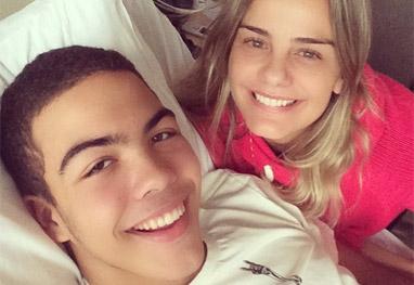Ronald, filho de Milene e Ronaldo, passa bem após cirurgia - Reprodução
