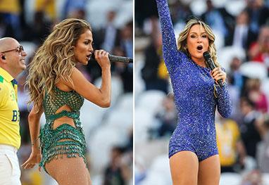 Playback de Pitbull, Claudia Leitte e Jennifer Lopez na abertura da Copa vira piada