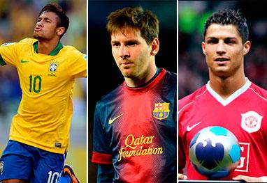 Neymar, Messi e Cristiano Ronaldo são os nomes mais falados desta Copa - Getty Images