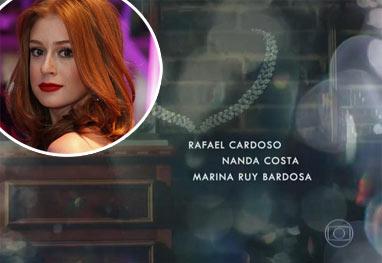 Nome de Marina Ruy Barbosa aparece errado na abertura de Império - AgNews/Reprodução TV Globo