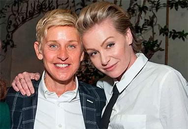 Filho pode salvar o casamento de Ellen DeGeneres, diz revista - Getty Images