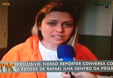 Mulher de Rafael Ilha fala direto da prisão: 'Somos inocentes' - Reprodução