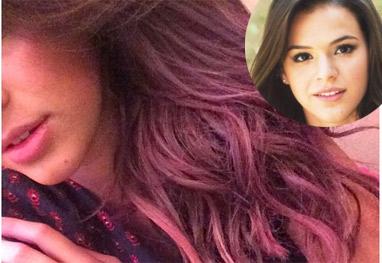Bruna Marquezine pinta o cabelo de rosa para novo filme - Reprodução/Instagram