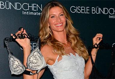 Charmosa, Gisele Bündchen lança coleção de lingerie em São Paulo - AgNews