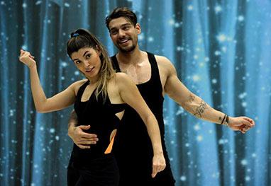 Lucas Lucco volta a cantar sua instrutora durante ensaio do Dança dos Famosos - Site oficial/Domingão do Faustão