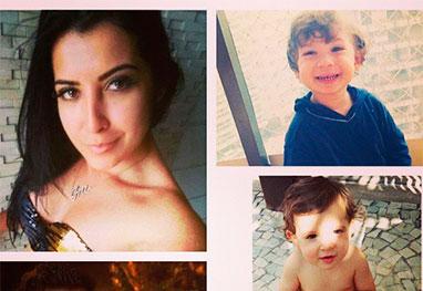Priscila Pires mostra toda a família em montagem de fotos