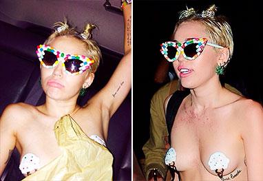 Miley Cyrus vai à festa de Nova York praticamente seminua - Reprodução/Instagram