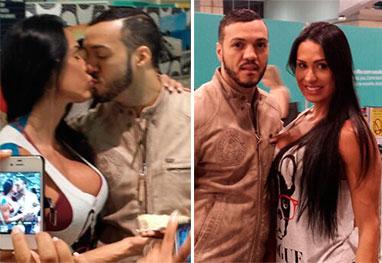 Gracyanne Barbosa ganha beijo do Belo e festa surpresa antes de partir para Las Vegas