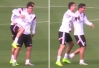 Cristiano Ronaldo faz 'bullying' com colombiano James Rodríguez. Vídeo! -