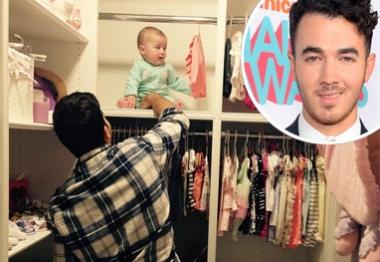 Filha de Kevin Jonas já tem seu próprio closet