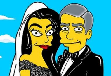 George Clooney e Amal Alamuddin ganham versão Simpsons