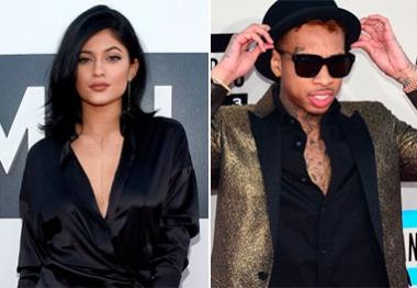 Kylie Jenner janta em clima de intimidade com rapper Tyga