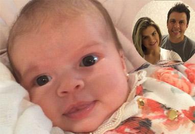 Mirella Santos e Wellington Muniz apresentam a filha, Valentina - Reprodução/Instagram