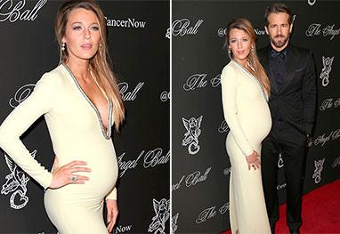 Com Ryan Reynolds, Blake Lively exibe a barriguinha da gravidez durante evento em Nova York  - Grosby-Group