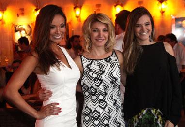 Carol Nakamura, Antônia Fontenelle e Juliana Paiva prestigiam programa de Giba