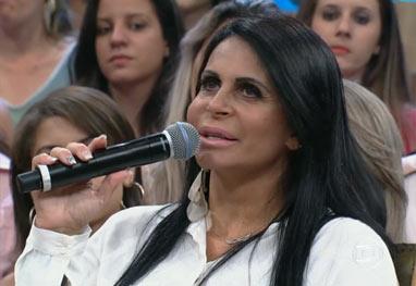 Gretchen revela que o marido ficou assustado quando a viu após lipo - Reprodução/TV Globo