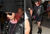 Katy Perry usa look 'dark' em aeroporto de Los Angeles -