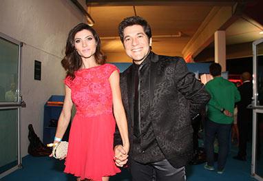 Daniel vai ao Prêmio Multishow com sua mulher Aline - Cláudio Andrade e Thyago Andrade/Photo Rio News