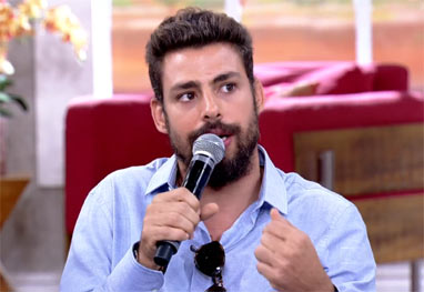 Cauã Reymond conta que evita tirar fotos quando está com a filha - Reprodução/TV Globo