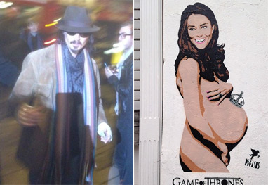 Johnny Depp compra retrato de Kate Middleton nua e grávida - Reprodução / Facebook