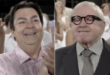 Saiba porquê ninguém abraça Jô Soares e Faustão na vinheta de fim de ano da Globo - Reprodução