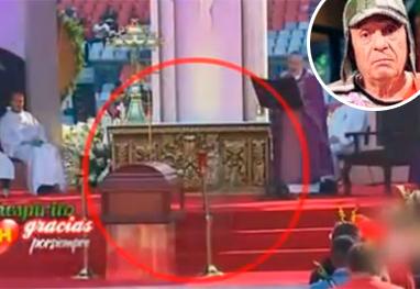 Vídeo com suposto 'fantasma' de Chespirito em missa para Bolaños bomba na web. Assista! - Reprodução/YouTube
