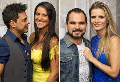 Antes de show, Zezé Di Camargo e Luciano recebem seus amores no camarim - AgNews