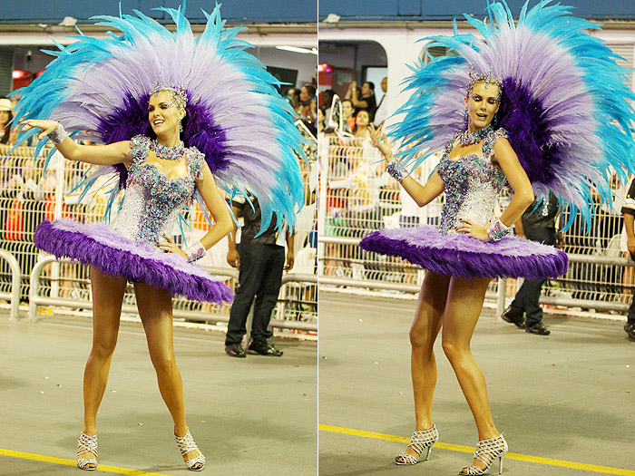 São Paulo: Linda de bailarina, Ana Hickmann abre o desfile da Vai-Vai - Marcos Ribas e Amauri Nehn/Photo Rio News