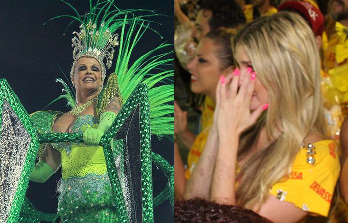 Rio: Barbara Evans cai no choro ao ver a mãe Monique na avenida - Cleomir Tavares/Divulgação