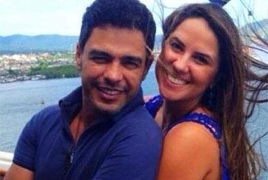 Graciele Lacerda, namorada de Zezé Di Camargo, diz que faz strip-tease para o cantor - Repprodução