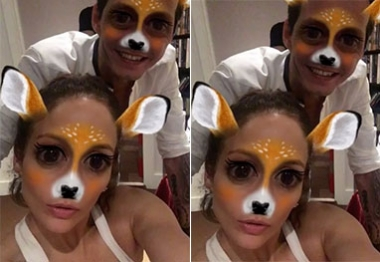 Jennifer Lopez e Marc Anthony se divertem no Snapchat