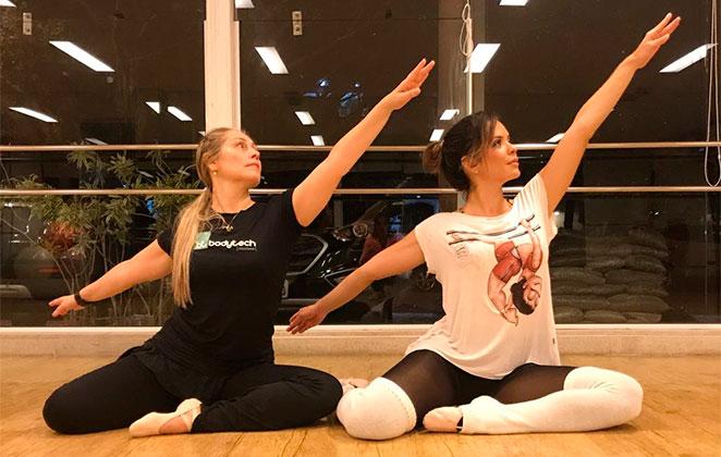 Denise Dias aposta em balé para manter a boa forma