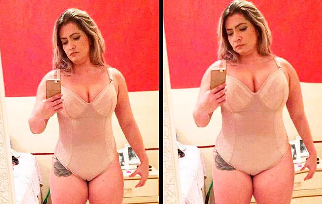 Fani Pacheco posta foto e diz: 'O corpo em que habito'