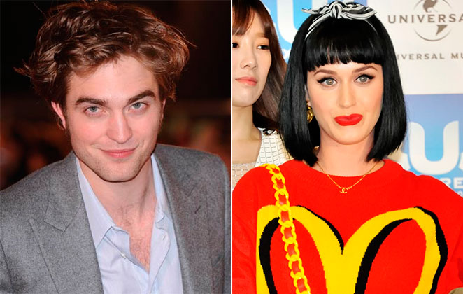 Noivo, Robert Pattinson flerta com Katy Perry