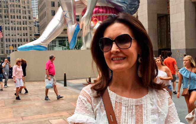 Fátima Bernardes viaja para Nova York com as herdeiras