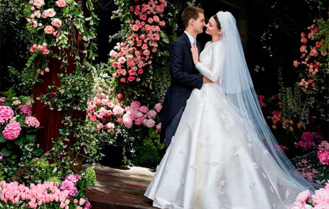 Miranda Kerr publica fotos de seu casamento