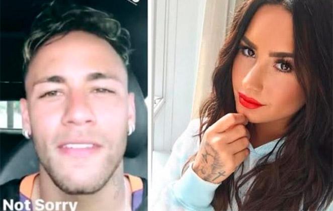 Neymar elogia Demi Lovato e cantora retribui
