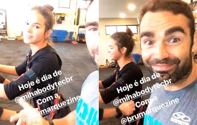 Bruna Marquezine treina pesado depois de temporada na Europa