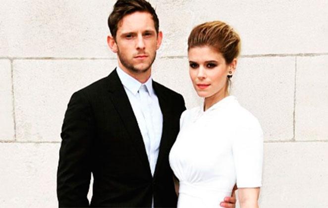 Kate Mara se casou com Jamie Bell no fim de semana